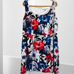 Luxe by Carmen Marc Valvo Shift Floral Dress
